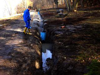 Drainagearbeiten in Feld und Garten und zur Bautrockenlegung
